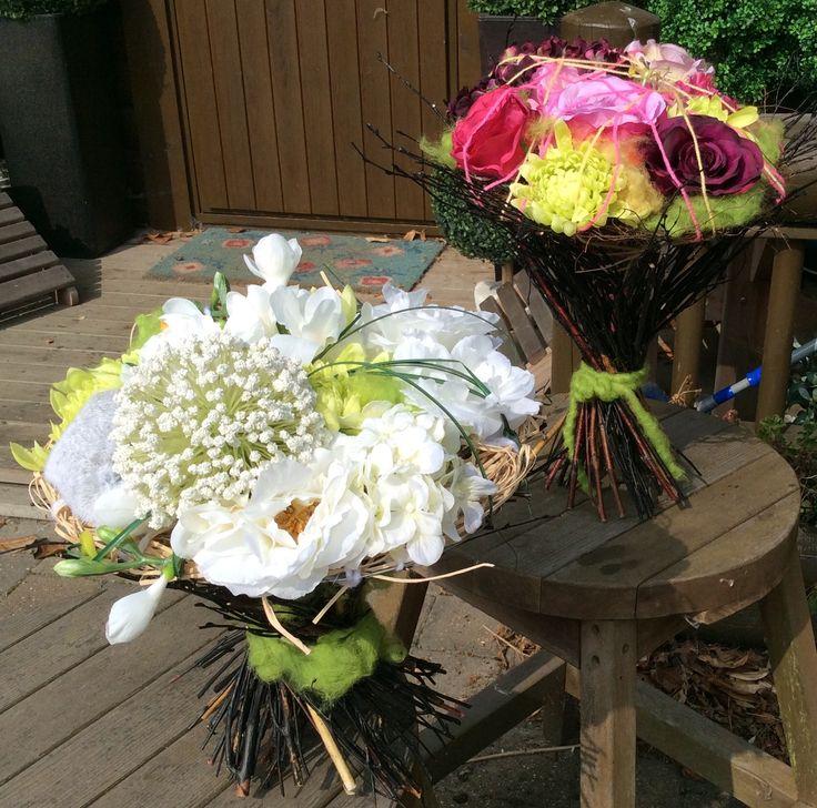 Freestanding textured bouquets