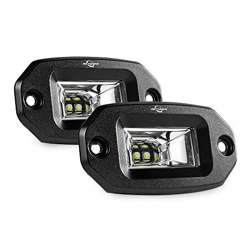 MICTUNING Flush Mount Led Pods, 2Pcs 20W Flood Cree Led Light Bar, Off Road Backup Driving Lights Fog Lamp for Jeep Bumper ATV UTV SUV Truck Boat - Flush Mount Low Windage Design - Maximum Stability MICTUNING is an expert in automotive led lighting field, focusing on premium product quality and excellent performance, designed for Safe and Fun! The led light pod used flush mount design to effectively reduce windage, so as to maximize mounting...