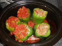 Crock-Pot Stuffed Peppers... Dinner tonight!!