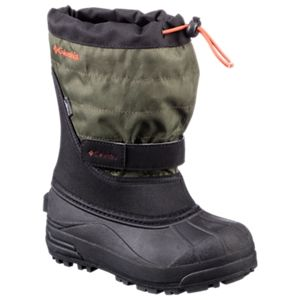 Columbia Powderbug Plus II Waterproof Pac Boots for Kids - Black/Spicy - 1