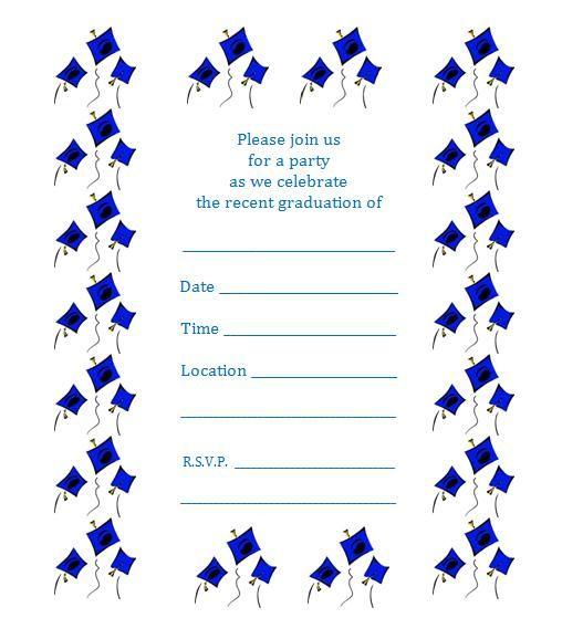 free graduation party invitation template