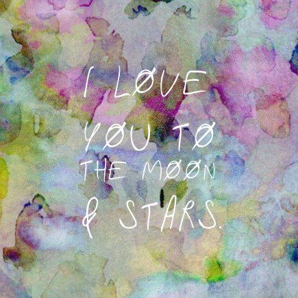 "Annie Everingham ""1 LOVE YOU TO THE MOON & STARS"" card.  Available in store."