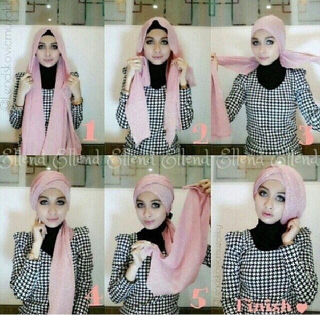 Gambar Tutorial Hijab Pashmina Glitter Jilbab Turban Gaya Hijab
