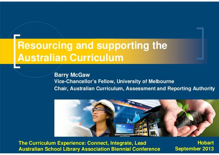 Resourcing and supporting the Australian Curriculum