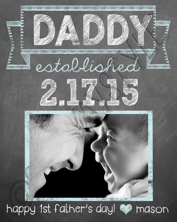Cute First Fathers Day Gifts Part - 30: New Dad First Fatheru0027s Day Gift Personalized By SubwayStyle