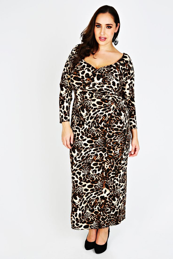 Scarlett Jo Leopard Print Maxi Dress Jada Sezer Yours Clothing