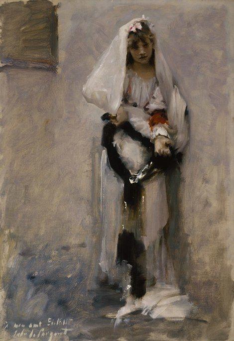 John Singer Sargent, A Parisian Beggar Girl, 1877 on ArtStack #john-singer-sargent #art