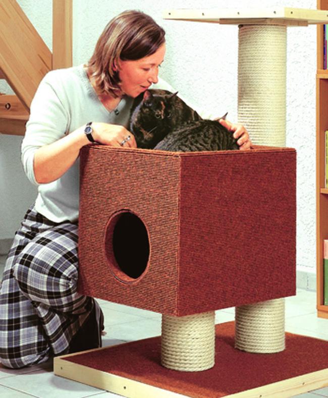 Come costruire un tiragraffi per gatti fai da te #tiragraffi #cat #gatto #scratching post
