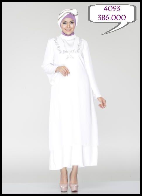 Gamis All White Cantik, Anggun dan Mempesona