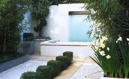 145 best images about paisajismo patios y piscinas en for Jardines para espacios pequenos