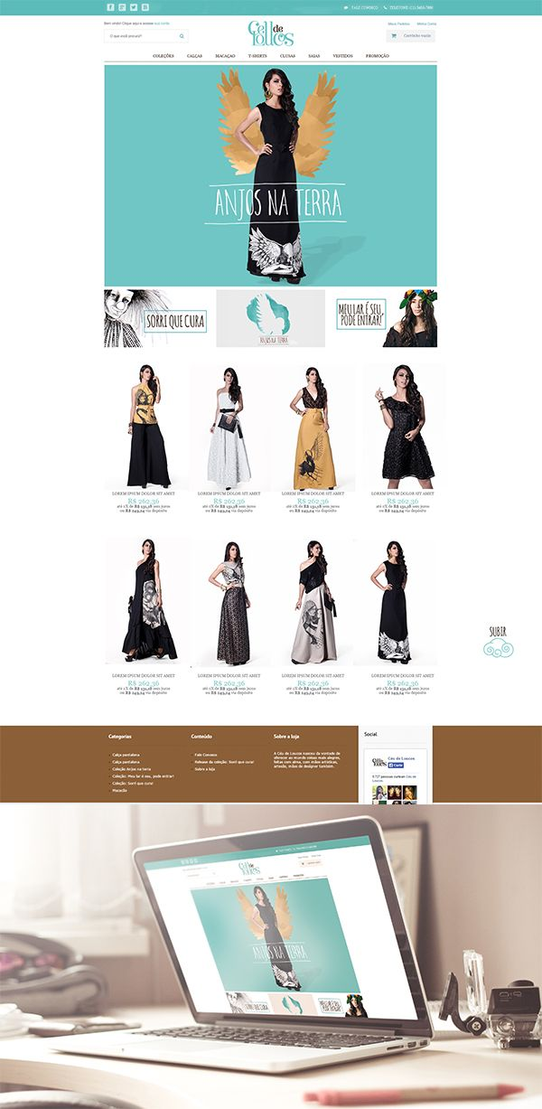 #redesign do site da loja Céu de Loucos #webdesign #e-commerce #design #graficdesign #shopdesign #moda #fashion #fashiondesign www.ceudeloucos.com.br