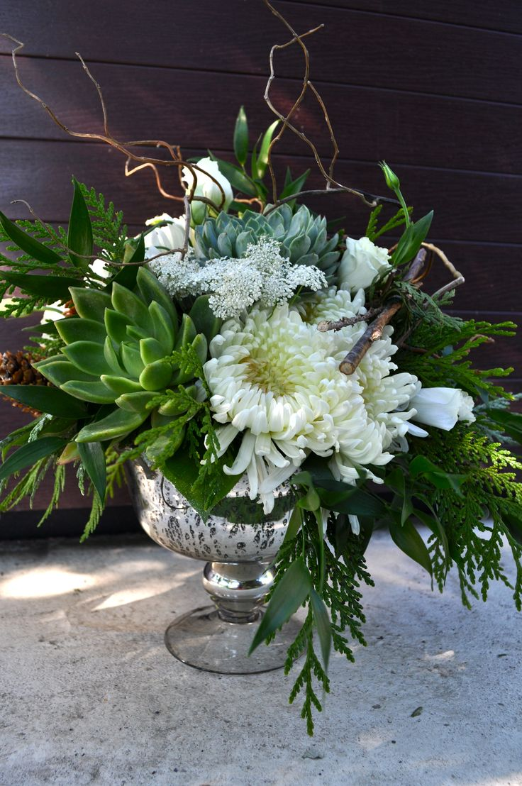 Vintage White Garden Arrangement