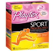 Playtex Sport Fresh Balance: I usually buy tampax pearl, I'm not to big on the scented tampons but it had a nice fragrance.