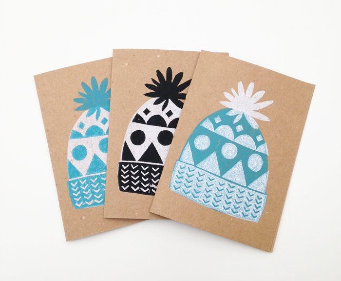 lino print cards - Google Search