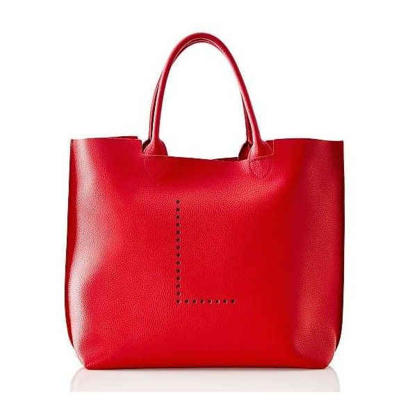 Mark & Graham Simone Initial Tote, Red, L ($225) ❤ liked on Polyvore featuring bags, handbags, tote bags, red leather tote bag, red tote bag, oversized leather tote, structured leather tote and oversized tote bags