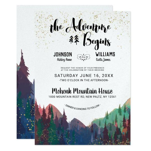 Forest Wedding Invitations Rustic Wedding Invitations Org Mountain Wedding Invitations Mountain Wedding Rustic Invitations