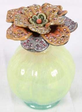 "'Jeweled Stella Perfume Bottle'   Designer  ~Jay Strongwater~     [2 1/2"" x 3 1/2""]  [Source: http://www.antiquehelper.com/item/296053#]"