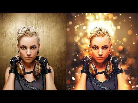Shimmer Photoshop Action Tutorial - YouTube