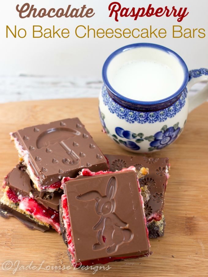 552 best easter images on pinterest easter recipes easter food chocolate raspberry no bake cheesecake bars negle Images