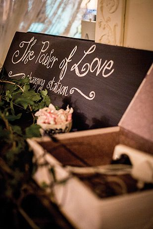 Charging Station Kate and Daniel's Epic Irish Wedding at Ballybeg by Root and Branch Photography | www.onefabday.com
