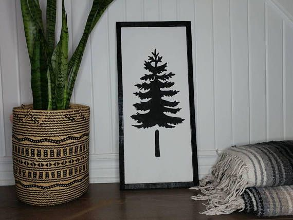 Check out this item in my Etsy shop https://www.etsy.com/ca/listing/559373520/pine-tree-wood-sign