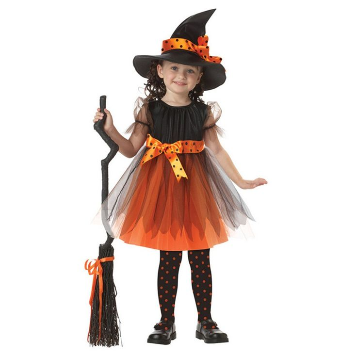 >> Click to Buy << 2017 Girl Witch Dress +  Hat Cap Princess Party Dresses Tutu Baby Kids Children Clothing Carnival Halloween Cosplay Costume #Affiliate