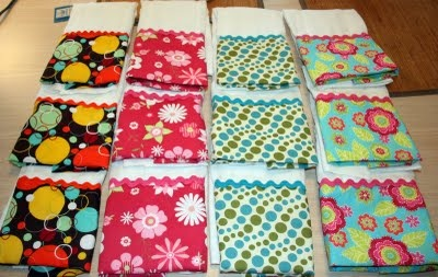 Homemade Burp Cloths out of diapers