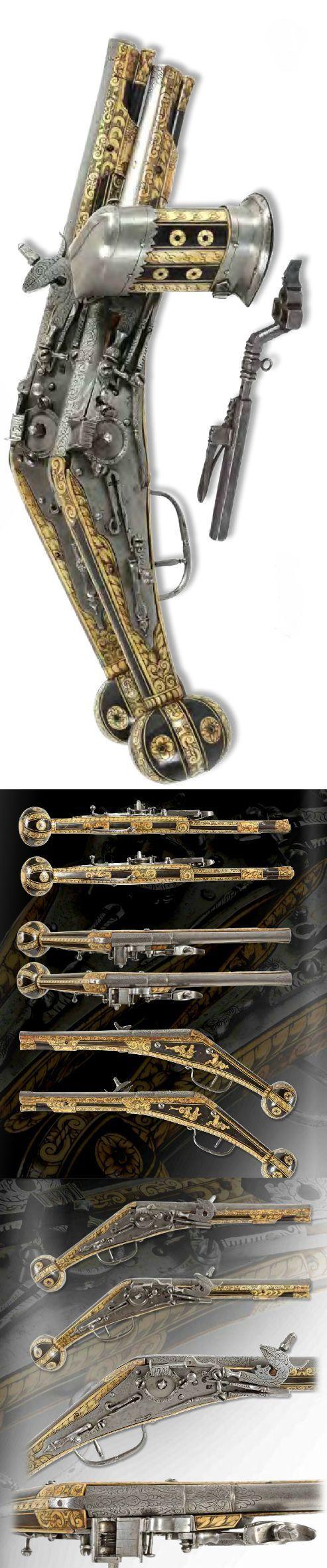 Fusil Wheelock y todos sus accesorios. Alemania, año 1600