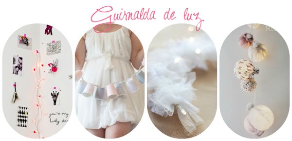 DIY guirnalda luces