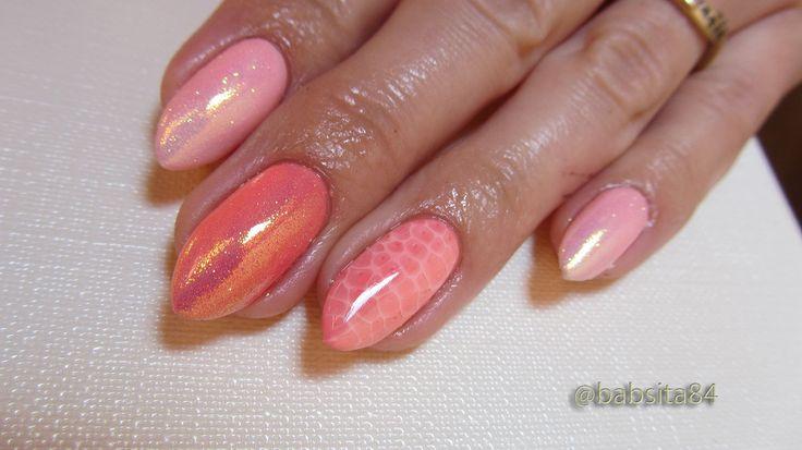 Hybrydy: Snake Skin, Syrenka, Ombre Manicure - Semilac 130, 033, 132 - B...