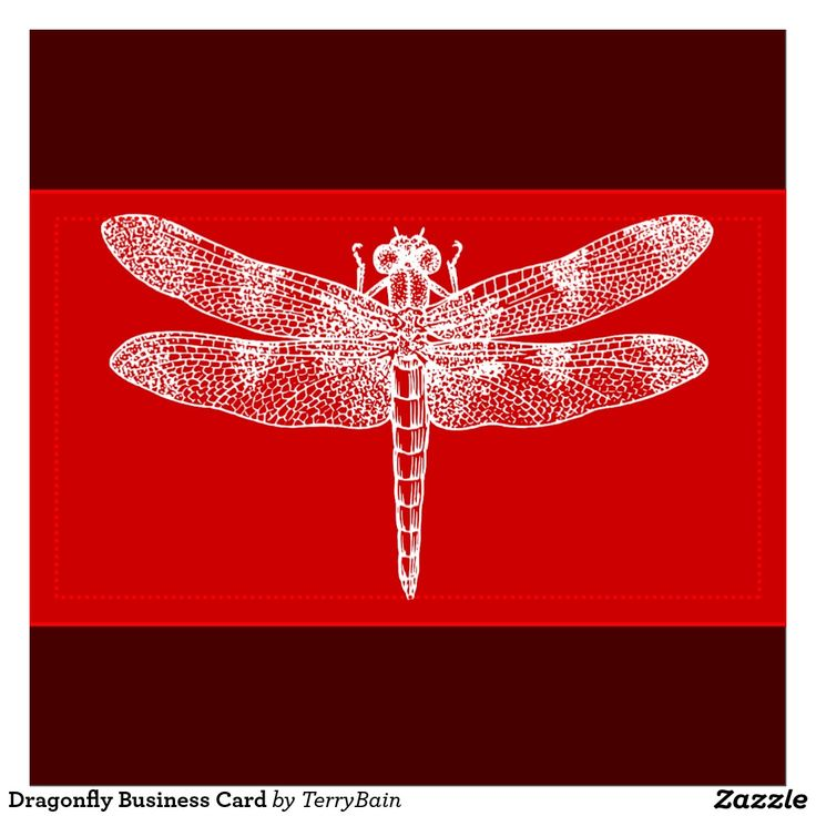 Dorable Dragonfly Business Cards Motif - Business Card Ideas ...