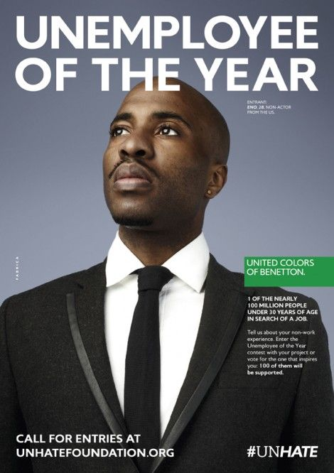 "United Colors of Benetton has done it again with their ""Unemployee of the Year"" campaign aimed to inspire the unemployed youth."