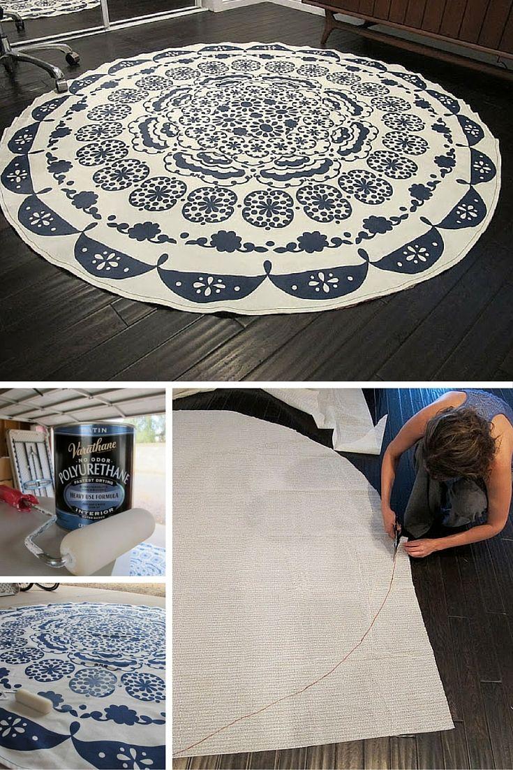 DIY Table Cloth Rug!
