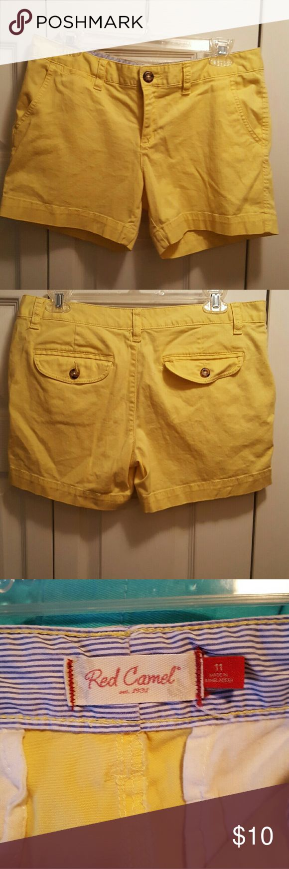 Yellow shorts Yellow Red Camel shorts, cotton Red Camel Shorts