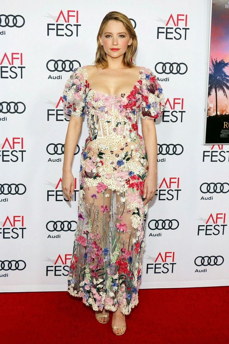 Rules Don't Apply Premiere, Hollywood - November 10 2016 Haley Bennett wore a dress by Alexander McQueen.