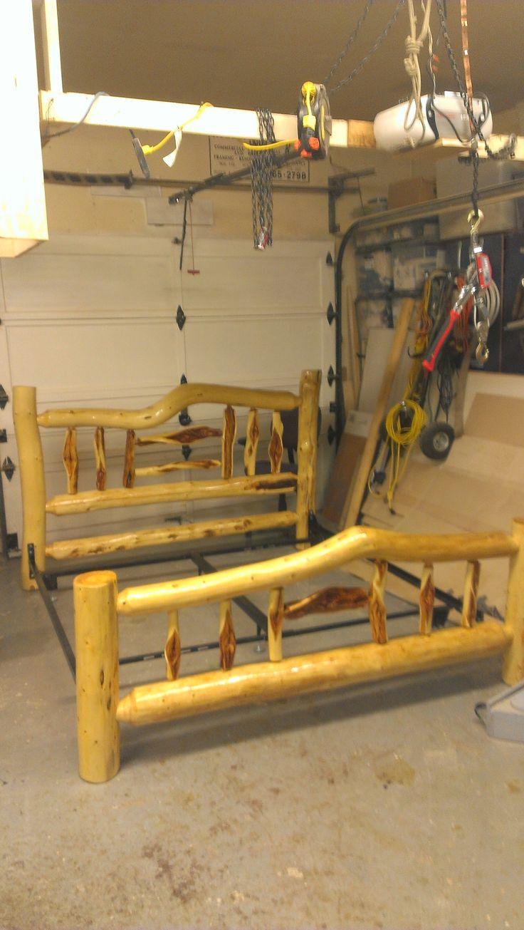 log furniture ideas. diamond willow king size log bed frame furniture ideas