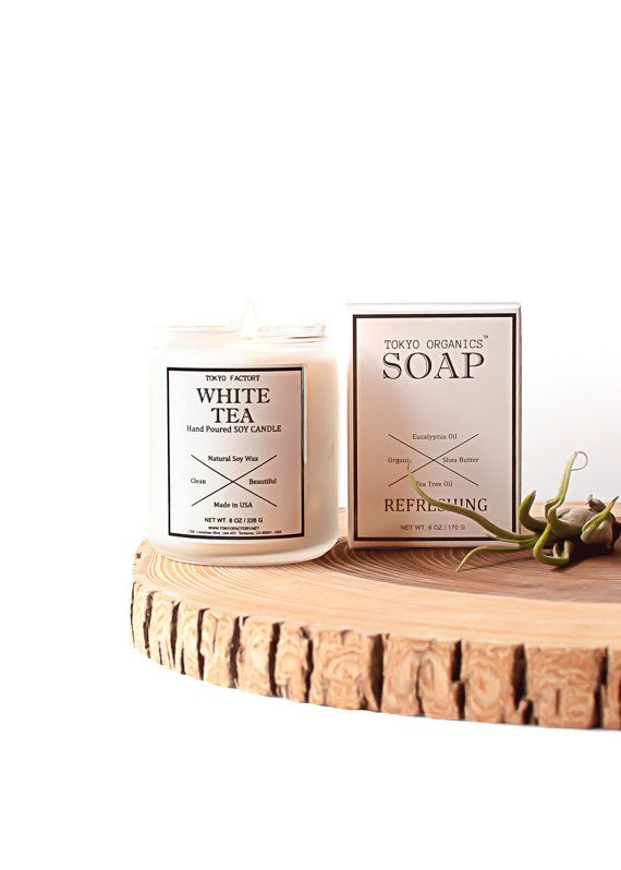 Soap and Candle Gift Set  Flat Rate Shipping  by TOKYOFACTORY