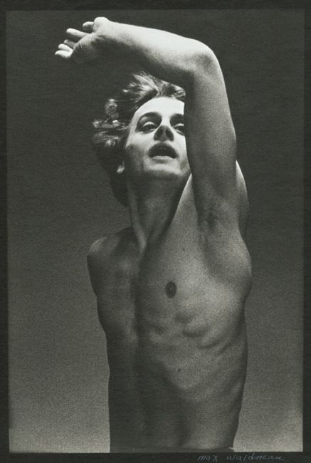 A young Baryshnikov in the ballet, Le Jeune Homme et la Mort. Photo by Max Waldman.