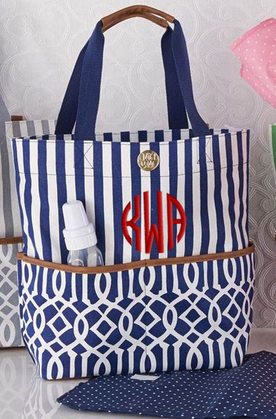 16 best personalized diaper bags images on pinterest personalized diaper bag navy blue big bundle by mud pie negle Image collections