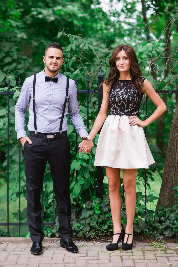 Black dress engagement photos - Dressy Glam City A Lace Beige And Black Dress With Strappy Black Heels Button Up With