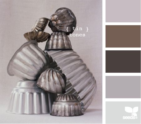 tin tones- great colors for a neutral or tiny home.