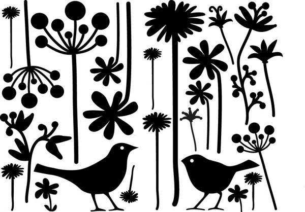 Glass-Tattoo: autumn flowers - decor for your window -Beautiful Window Decoration - the Window Tattoo by LOVALA