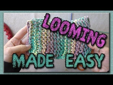 Learn the Basic Stitches for Loom Knitting - great pictures showing how to do basic stitches.