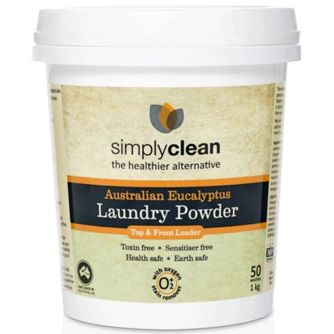 Eucalyptus laundry powder with built in stain remover – Evolution Emptor $12.95