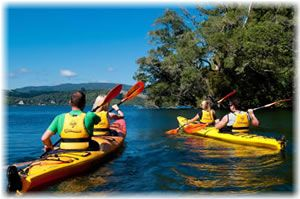 Waimarino's Lake Rotoiti Glow Worm and Hot Pool Kayak Tour.