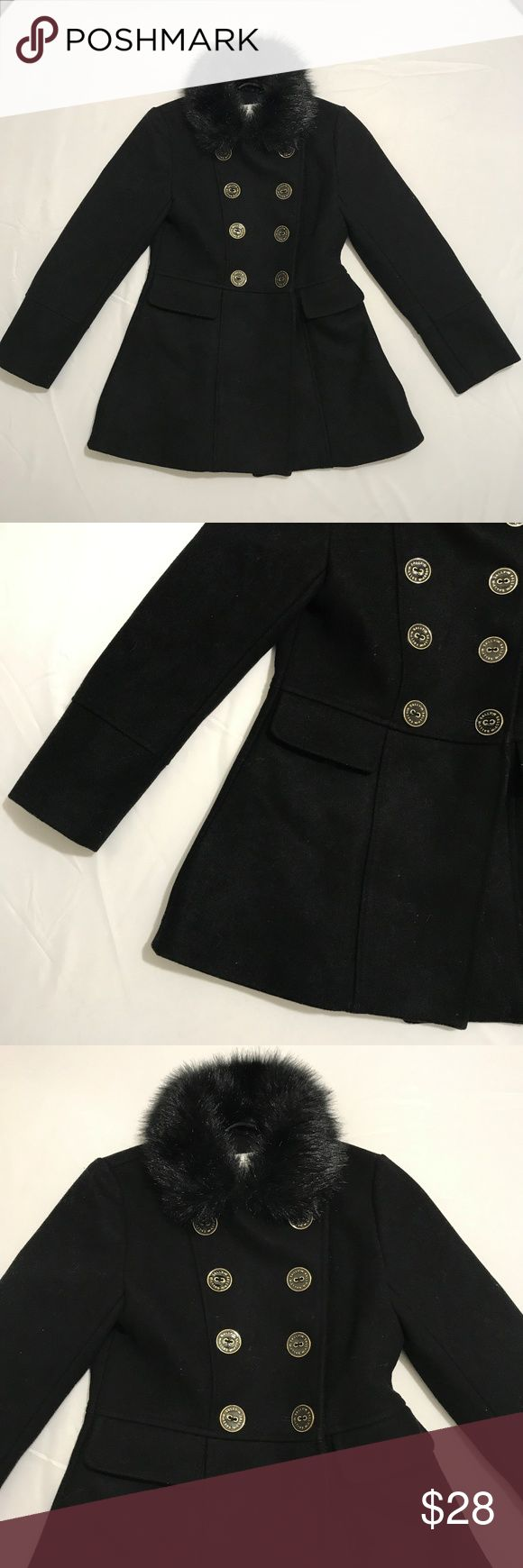 "Sally Miller Girls Winter Fur Pea Coat Black Sz M8 Sally Miller Girls Winter Fur Pea Coat Black Size Medium 8 Measurements 14"" armpit to armpit, 23"" shoulder to hem, 19"" sleeve Excellent condition no flaws 2 lbs Sally Miller Jackets & Coats Pea Coats"