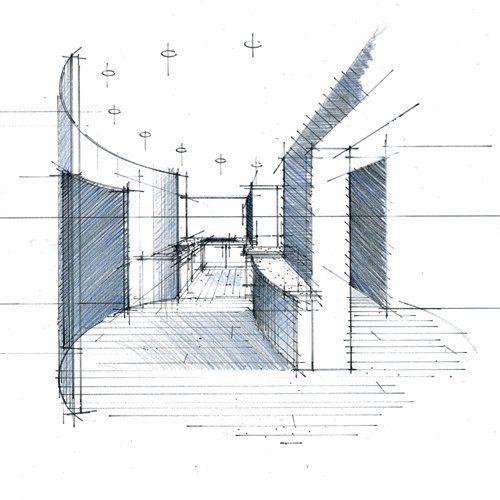 Perspective des travaux de l'agence d'architecte d'intérieur de Philippe Ponceblanc