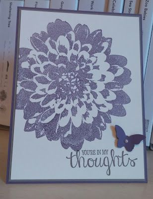 Windy's Wonderful Creations, Definitely Dahlia, Best Thoughts, Stampin' Up!