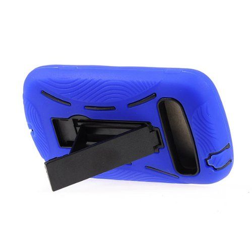 Buy DOUBLE IMPACT CASE + SCREEN PROTECTOR FOR SAMSUNG ADMIRE / VITALITY R720 BLUE BLACK NEW for 9.85 USD | Reusell