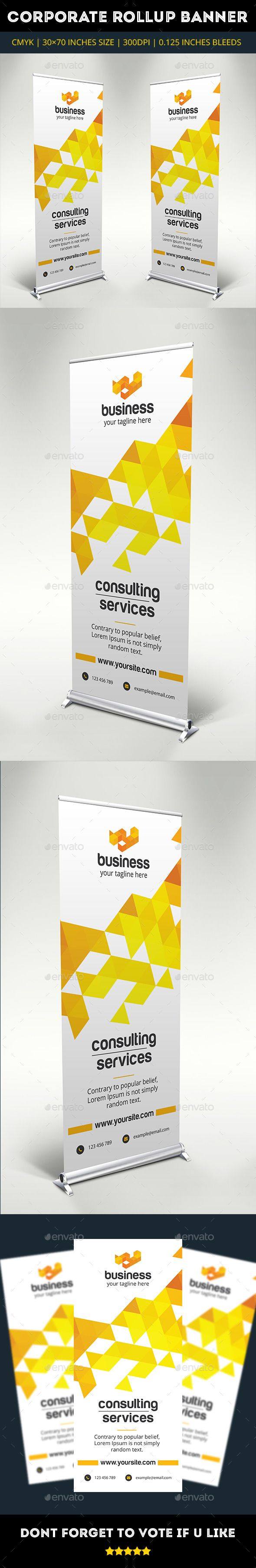 Corporate Rollup Banner Template #design Download: http://graphicriver.net/item/corporate-rollup-banner/10483108?ref=ksioks